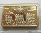 24K GOLD PLATED WWI SOLDIERS BAR - 1914 GERMAN IRON CROSS NAZI EAGLE 3rd REICH