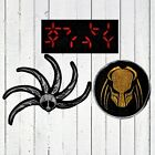 Set Predator Embroidered Patches Helmet Display Autodestruction Shuriken AVP