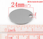 10 Stainless Steel Oval Charm Pendant Stamping Blank Tags Finding 24x17mm
