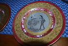 BEAUTIFUL 22K GOLD ENCRUSTED ROYAL CHINA LIMOGES FRANCE 10.5inch PLATE x2