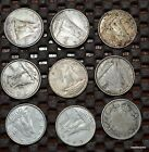 Collection of 9 Foreign Silver Coins (Canada Dimes 10 Cents) - Lot #a6