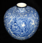 JAMES KENT FENTON YE OLDE FOLEY WARE BLUE & WHITE TRANSFERWARE ONION VASE