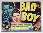 BAD BOY '49 MINT TITLE CARD ~ AUDIE MURPHY'S FIRST STARRING ROLE! ~ VERY RARE! ~