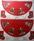 2 Olde Father Christmas Tree Skirt & Stockings Fabric Panels V.I.P. Cranston PW
