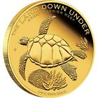 2014 The Land Down Under Turtle pure 100 Mills .999 24k gold bullion Coin RARE