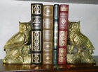 HOLLYWOOD REGENCY ~ OWL FIGURINES ~ SOLID BRASS BOOKENDS ~ RARE FIND SUPERB COND