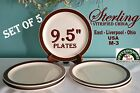 Set of  5 Sterling Vitrified China 9.5