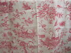 Brunschwig & Fils Pink Promenade French Country Bird Pheasant Toile Linen Fabric