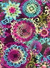Fabric #2339A Pink Blue Green Collage Jason Yenter End of Bolt at 38-1/4 inches