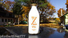 Orange Pyro Quart Milk Bottle Fresh From FLORENCE DAIRY w Matching Milk Cap.