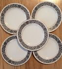 Lot of 5 Four Crown China Japan 383 Monte Carlo - Bread Plates 6 5/8