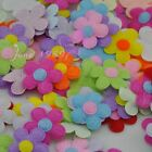 100PCS Padded Felt Flower Appliques 9 Color Pick color