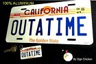 Back to the Future Delorean OUTATIME LICENSE PLATE with **KEY CHAIN**