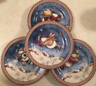 Set of 4 Sakura SNOW ANGEL VILLAGE 8 1/8