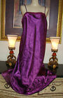 VTG  PURPLE VERY SILKY SATIN LONG NIGHTGOWN GOWN BUST 38