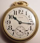 ANTIQUE RAYMOND ELGIN 19'J RR RAILROAD POCKET GOLD WATCH 16'S LEVER