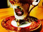 Timbri Gold Handapainted Porcelain Teacup And Saucer From Italy
