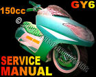Scooter 150cc GY6 Service Repair Manual Tank SUNL Vento