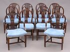 SET OF TWELVE GEORGE III STYLE MAHOGANY DINING CHAIRS, EARLY 20TH CENTURY