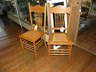 2 Matching Early 1900s Pressed Oak chairs caned seat, German history