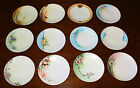 Lot of 12 Small Antique Decorative Cabinet Plates with Gold Trim, Bavaria