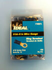.NEW- TWO BOXES= 200 IDEAL BLUE RING TERMINAL #10 SCREW 16–14 WIRE GAUGE 770007L