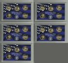 COLLECTION OF 5 LOT OF FIVE 2002 PROOF WASHINGTON STATE QUARTERS SET! 25 COINS!
