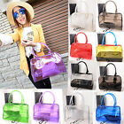 Sweet Jelly Woman Clear Transparent Bucket Shoulder Bag PVC 2in1 Handbag Purse
