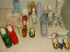 VINTAGE LOT ALL KINDS SHOE FIGURINES IN ALL SIZES  Marked JAPAN,LEFTON