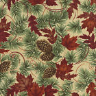 Moda Holly Taylor Turning Leaves Off White Quilt Fabric 1/2 Yard Free Shipping