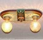 536 Vintage 30's Ceiling Light Lamp Fixture Glass Fixture more available
