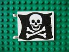 Lego Flag 6x4 Skull & Crossbones Jolly Roger Ptn  6279 6273 Pirate Ship 6286