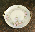 Late 1800's Porcelain Cake Plate, Gold Gild Handles Hutschenreuther Selb Bavaria