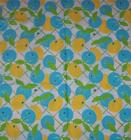 RARE*LILLY PULITZER FABRIC**CITRON*BLUE*YELLOW*WHITE*QUALITY QUILT COTTON*18X18