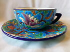 LONGWY CUP AND SAUCER