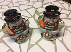 Snowmen salt & pepper shakers 4in. made in China very colorful