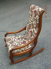 VINTAGE  CHILD'S  UPHOLSTERED / WOOD  FRAME  ROCKING  CHAIR  -  1940's
