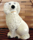 Staffordshire Poodle Figurine, Sitting, Appears Early