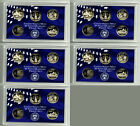 COLLECTION OF 5 LOT OF FIVE 2000 PROOF WASHINGTON STATE QUARTERS SET! 25 COINS!