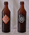 Vintage Amber Orange Crush ACL Soda Bottle 7 OZ 1947 John G Epping Lousiville,KY