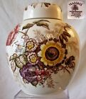 Mason's Ironstone China Ginger Jar Frairswood Pattern 1960 England 6.75
