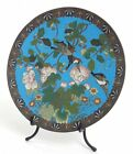 19th C ANTIQUE MEIJI JAPANESE CLOISONNE ENAMEL & BRONZE 12