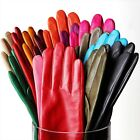 Women Genuine Grade A Nappa Leather Classic Cashmere Lined Gloves On Sale #E038