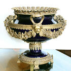 Cobalt Ormolu Mounted Sevres Style Centerpiece Trophy Vase W/Handles 45lbs!
