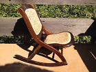 Folding Rocking Chair Vintage and Stowable Rocking Seat/Chair GREAT RETRO GIFT