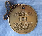 Antique Brass Hotel Key Fob Tag: DEARBORN INN (MI); HENRY FORD; Ford Motor Co