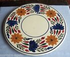 Antique Maastricht Holland Folk Art Gaudy Dutch Platter Plate Charger