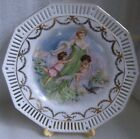 GERMAN? CZECH ? RETICULATED PIERCED PLATE TRANSFER OF GHOST OF CHRISTMAS c 1900!