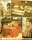 Simplicity 8214 Christmas Apron Tote Napkins Placemats Table Cloth Cover Decor