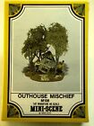 HO Scale WOODLAND SCENICS Mini Scene M108 Cast Metal OUTHOUSE MISCHIEF Kit NEW